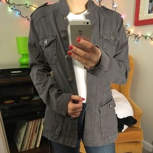 Forever 21 Army/Utility Style Gray Jacket